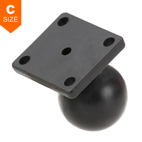 "RAM 4 Hole AMPS Adapter Plate 1.5"" Ball"