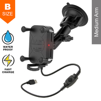 RAM Tough-Charge X-Grip Waterproof Wireless Charging Suction Mount Kit