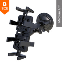 RAM Twist-Lock Suction Cup Universal Finger-Grip Mount Kit