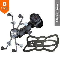 "RAM Twist-Lock Suction Cup 7""- 8"" Tablet X-Grip Mount Kit"